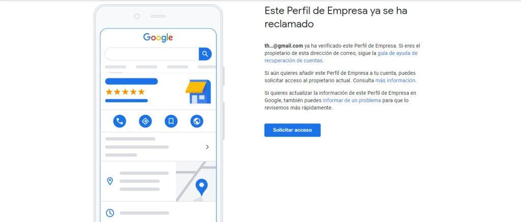 Reclamar Google My Business